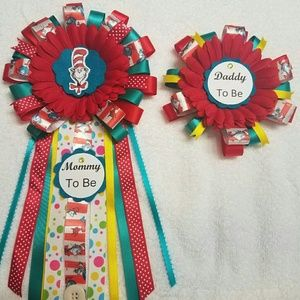 Other - Dr seuss baby shower corsage/ mom&dad to be set